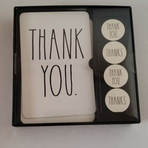 Rae Dunn-Thank you cards with Envelopes & Stickers